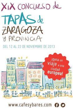 Cartel XIX concurso de tapas de Zaragoza