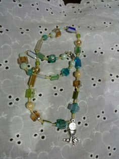 1st Holy Communion handmade glass & silver by PerseveranceRoad, $32.00 FREE SHIPPING on this necklace