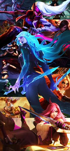 #katarina #leagueoflegends #wallpaper #collage #lol