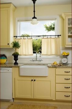 seafoam green and yellow kitchen | pale yellow kitchen walls | traditional kitchen by Donna DuFresne ...