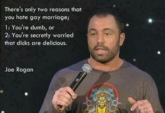 Joe Rogan on Gay Marriage   I couldn't love a quote more than this.