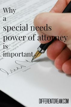 Kathy Guzzo explains why it's important for parents to secure a special needs power of attorney for property for adult children with medical needs.