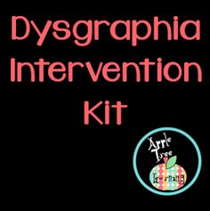 DYSGRAPHIA INTERVENTION KIT: This intervention kit addresses the concerns, needs, interventions and documentation for students with dysgraphia. Dyscalculia, Dysgraphia Symptoms, Learning Support, Differentiated Instruction, Reading Intervention, Learning Disabilities, Developmental Disabilities, Learning Styles, School Psychology