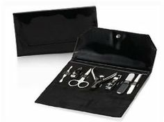 Bath & Body Works 7 Piece Manicure Set with Black Travel Case Includes Nail Clippers & Nail File by Bath & Body Works. $13.96. Seven Piece Set plus Bag. Convenient Travel Carrying Case. This seven pieces manicure set by Bath & Body Works comes with a convenient travel carrying case.