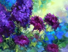 More delphiniums blooming in the studio tonight, we're on a purple roll!