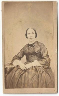 CDV Photograph Affixed Civil War Era Tax Stamp  woman seated hands crossed in Collectibles, Photographic Images, Vintage & Antique (Pre-1940), CDVs   eBay