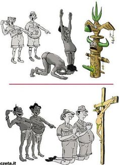 This are points of view... not anthropology! ;)