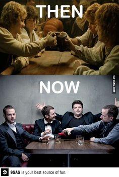Hobbits then & now :)