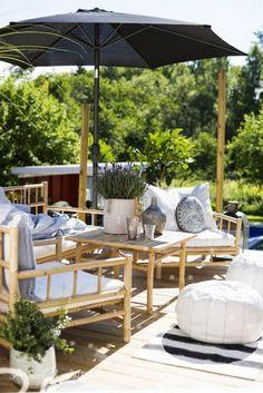 Outdoor bamboo furniture...