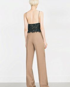 Image 5 of WOOL PALAZZO TROUSERS from Zara