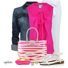 Hot Pink and Denim :)