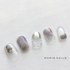 Pin by ? on n a i l in 2019 Luv Nails, Nails Now, Japan Nail, Silver Nail Art, Space Nails, Nails 2018, Nail Arts, Nails Inspiration, Nail Colors