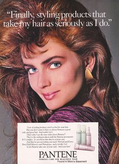 Dimension shampoo ad from Pantene hair products ad from featuring model Paulina Porizkova: National Cosmetology Association ad from Suave shampoo ad from Tennessee Williams, Beauty Ad, Fashion Beauty, Vintage Advertisements, Vintage Ads, Vintage Style, 80s Ads, Paulina Porizkova, 80s And 90s Fashion