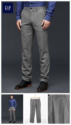 Mini plaid wool-blend pants (slim fit)