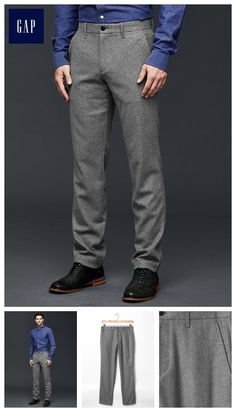 Mini plaid wool-blend pants (slim fit)