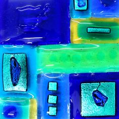 Online shop for Jo Downs, one of the world's most respected fused glass designers. Dichroic Glass, Fused Glass, Moody Blues, Textures Patterns, Neon Signs, Handmade, Design, Hand Made