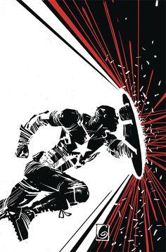 Captain America Variant Cover Art by Ron Garney Marvel Art, Marvel Dc Comics, Marvel Heroes, Marvel Avengers, Comic Book Covers, Comic Books Art, Book Art, Studio Logo, Character Drawing