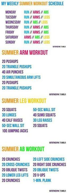 Summer workout plan that actually sounds possible!