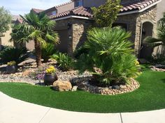 Corner landscaping idea.