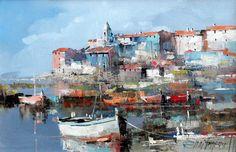 Branko Dimitrijevic, Blue Sea, Oil on canvas, 20x30cm