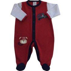Macacão Vermelho Bebê RN ao M