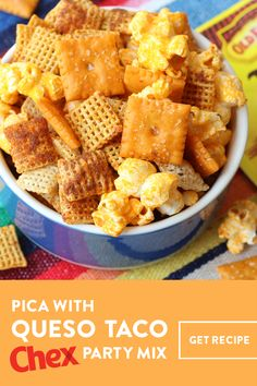 Snack Mix Recipes, Recipes Appetizers And Snacks, Healthy Snacks, All You Need Is, Vegetarian Recipes, Cooking Recipes, Pasta Recipes, Chex Party Mix, Easy To Make Snacks