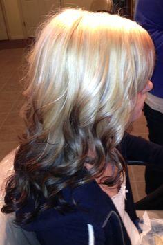 Ombré blond to dark brown