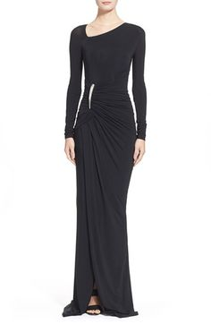Donna Karan New York Donna Karan Collection Element Hardware Draped Jersey Gown available at #Nordstrom