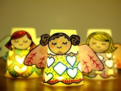 paper cup angel luminaries by MollyMooCrafts