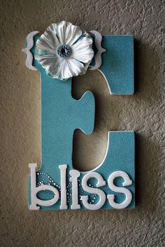 Wooden Wedding Initial Monogram Letters by LolaMonkey on Etsy, $35.00