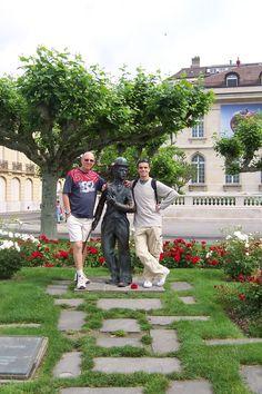 Vevey Switzerland, the statue of Charlie Chaplin