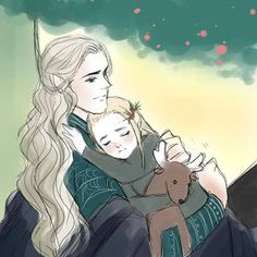 Oropher and young Thranduil