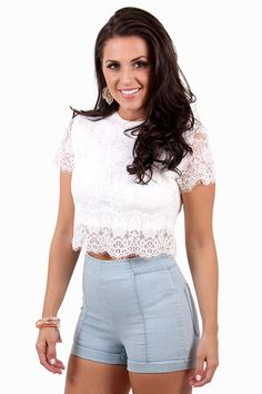 Lace Embrace White Top