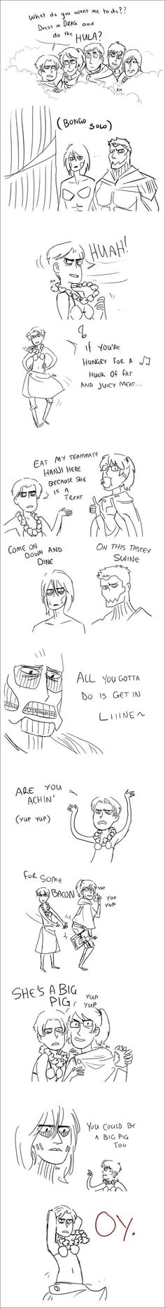 I'm laughing way to hard at this X''D Lion King and Shingeki no Kyojin / Attack on Titan Crossover Ereri, Levihan, Attack On Titan Crossover, Attack On Titan Funny, Anime Crossover, Mikasa, Death Note, Levi X Eren, Armin
