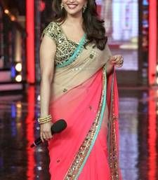 Buy Dual shaded designer bollywood actress madhuri dixit inspired party wear amazing saree madhuri-dixit-saree online