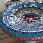 circular garden mosaic bird bath