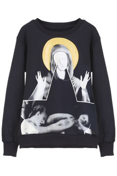 "ROMWE | ""Virgin Mary"" Black Pullove, The Latest Street Fashion"