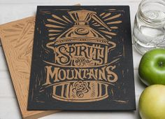 Spirit of the Mountains  Copper Still Block Print by strawcastle, $9.99
