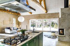 Loft, Kitchen Cabinets, Living Room, Interior, Blog Deco, Inspiration, Home Decor, Houses, Green Kitchen