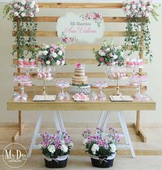 Baby shower vintage floral wedding ideas 44 ideas for 2019 Girl Baptism Party, Girls Party, Baby Baptism, Table Vintage, Vintage Stil, Vintage Party, Vintage Floral, Baptism Party Decorations, Baby Shower Decorations
