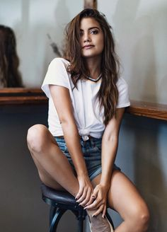 knock out your tee and pair it with denim shorts