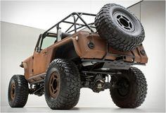The ideal vehicle for the apocalypse: Custom jeep rusted terra crawler.