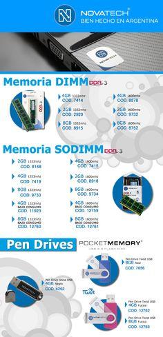 #Novatech: #memorias #pendrives  www.gvinformatica.com.ar #Olivos_VL #FloridaEsteVL #VecinosVL