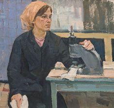 Швея мотористка. ERMOLIN REM NIKOLAYEVICH (1926, LENINGRADO - 2004, SYKTYVKAR).