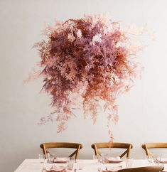 Three Beautiful, Unexpected Ways to Work Dried Flowers Into Your Wedding Dried Flower Arrangements, Flower Centerpieces, Dried Flowers, Wedding Centerpieces, Wedding Bouquets, Purple Bouquets, Flower Bouquets, Wedding Decorations, Tall Centerpiece