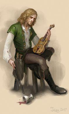 A drunk musician. by CG-Warrior.deviantart.com on @DeviantArt