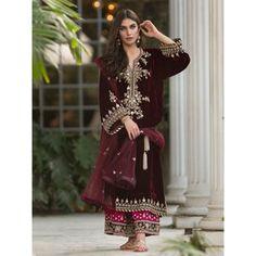 Pakistani Indian Wedding dresses off White maria b embroidery | Etsy Velvet Pakistani Dress, Simple Pakistani Dresses, Pakistani Wedding Dresses, Pakistani Dress Design, Pakistani Outfits, Punjabi Wedding Suit, Pakistani Couture, Desi Wedding, Wedding Ideas