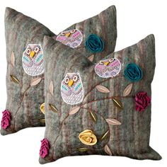 {Owls Pillow - set of 2} love these!