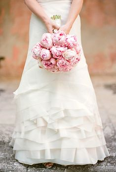 Pink Peonies  Can I please have this bouquet even though I'm already married?  I love peonies, especially pink!