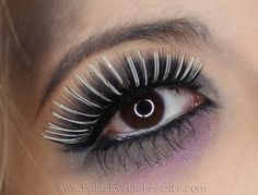 Halloween Zombie Makeup with black and white eyelashes